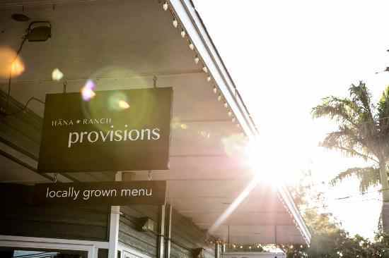 Hana Ranch provisions Paia, American food restaurants