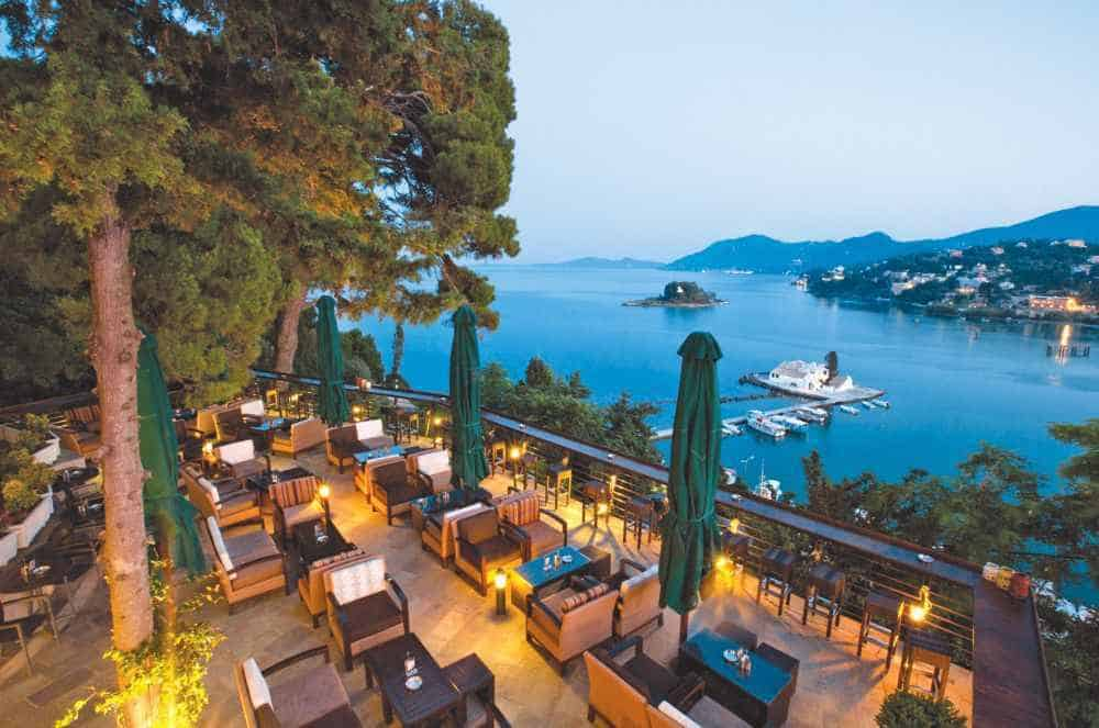 Corfu Holiday Palace Greece, Ionian Sea beach restaurant