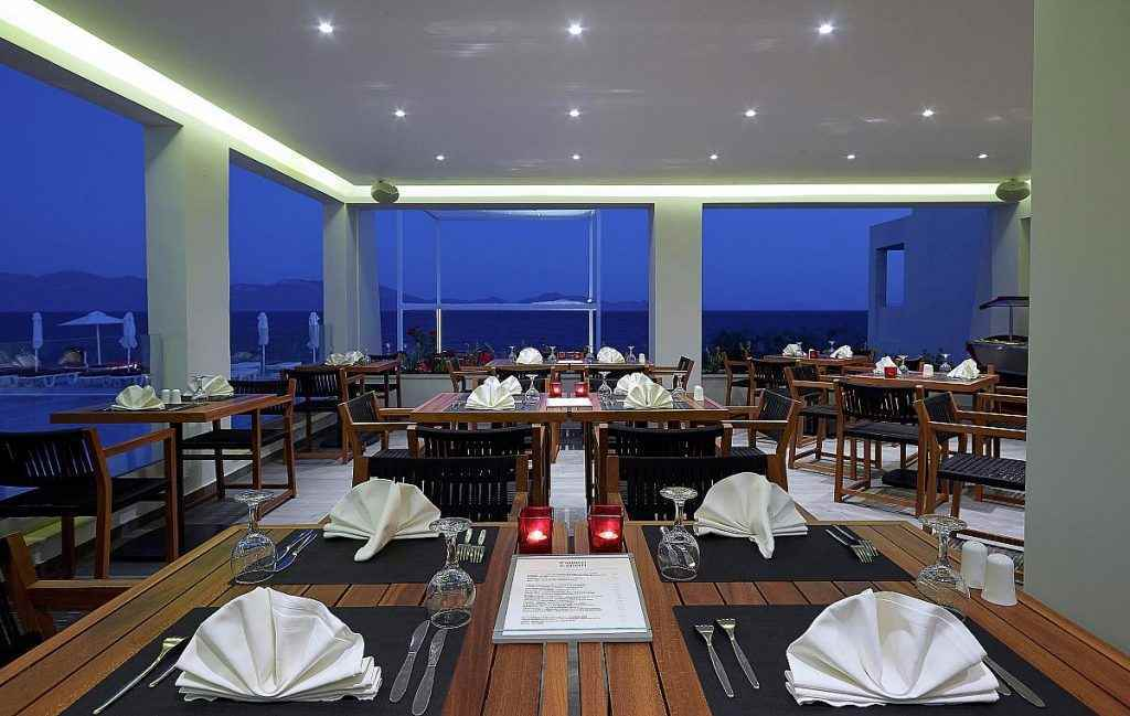 Dimitra Beach Resort restaurant, kids pool hotels in Kos, beach exclusivity hotels in Kos