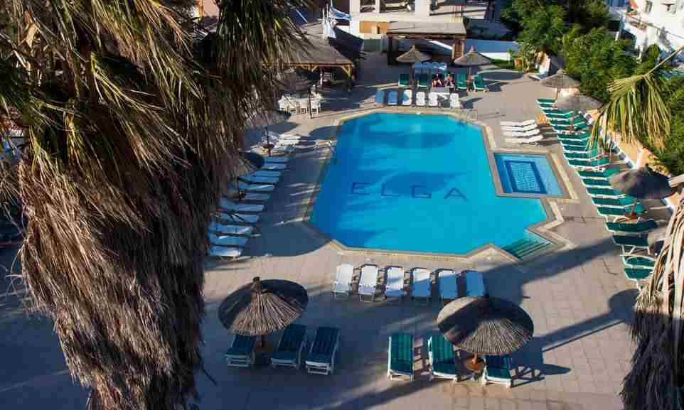 Elga Hotel Apartments Kos, Elga Hotel Apartments to Kos International Airport, Elga Hotel swimming pool
