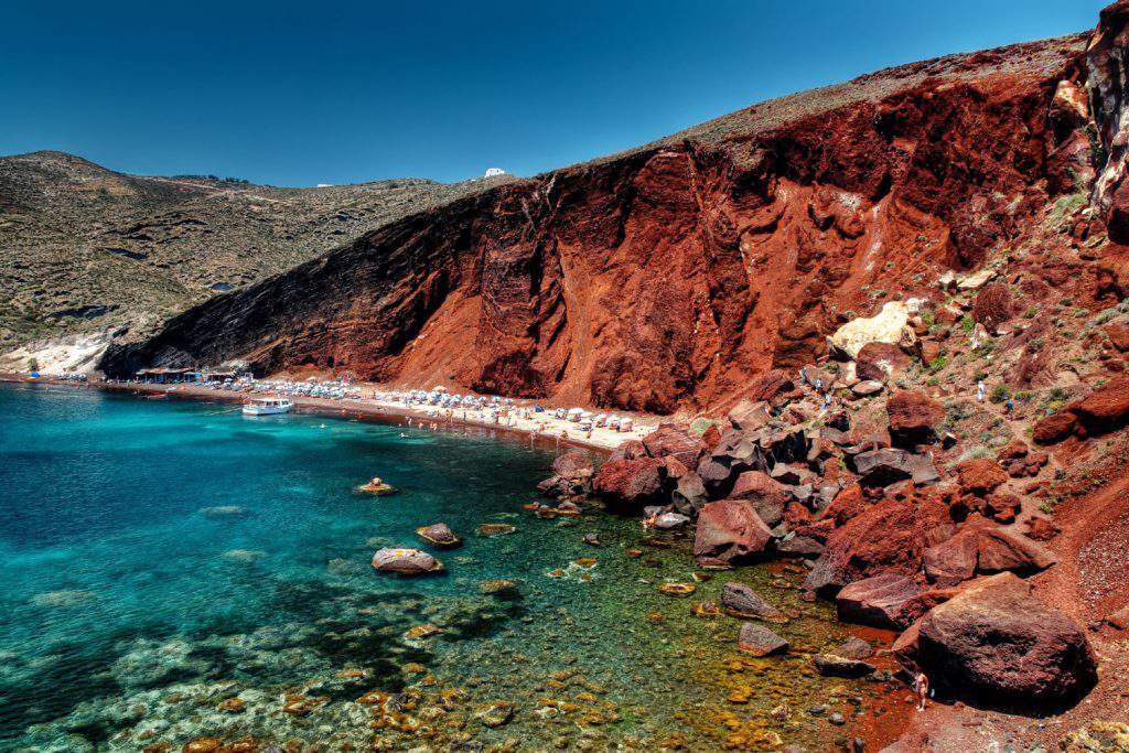 red beach santorini, red beach santorini reviews