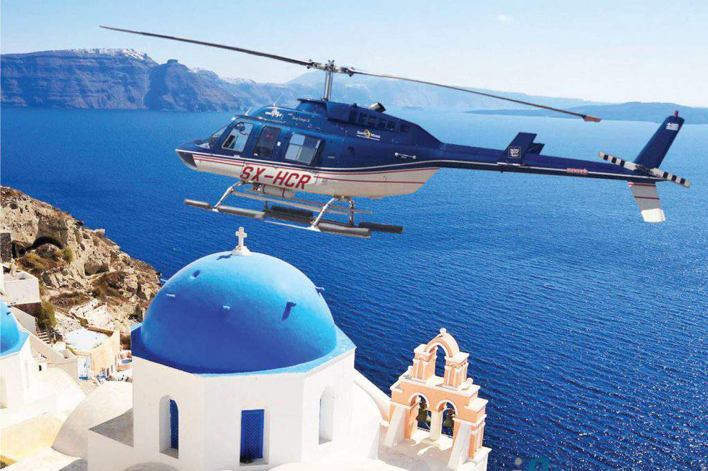Santorini Helicopter Tour, helicopter tour in santorini