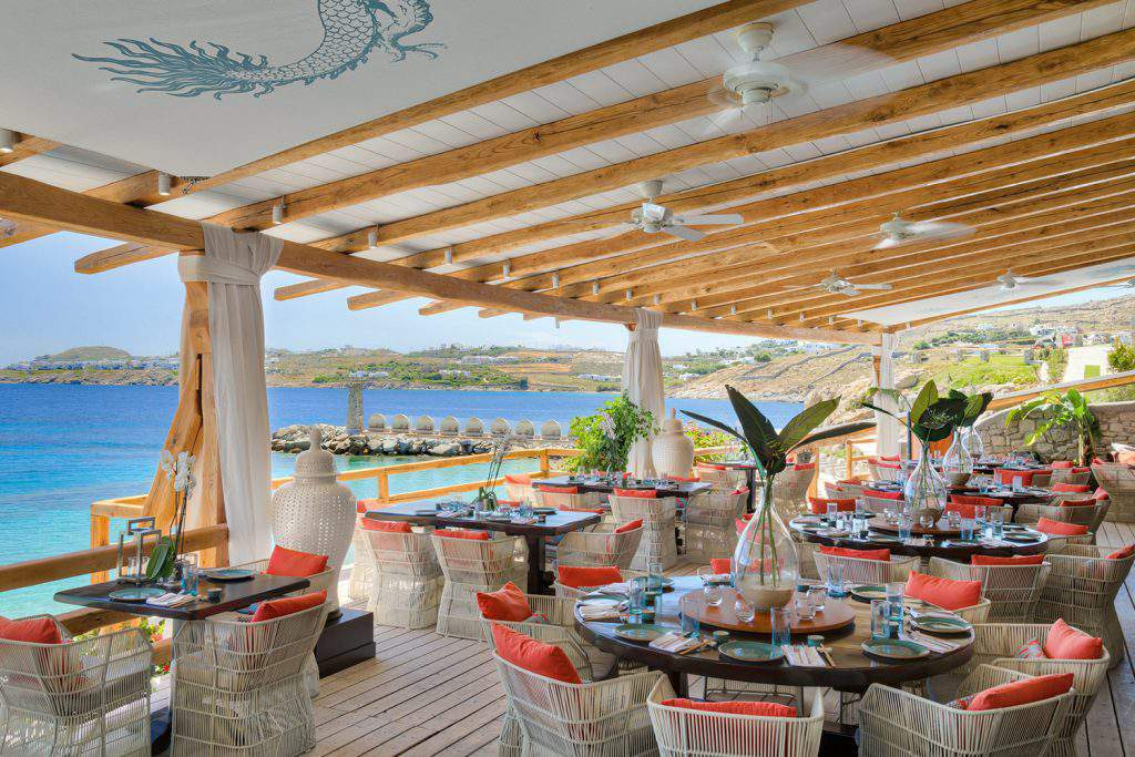tropicana beach bar - restaurant mykonos greece, tropicana beach bar restaurant - paradise mykonos