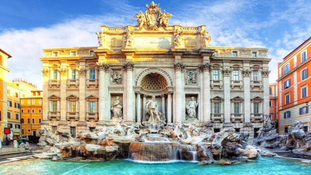 trevi fountain architecture,trevi fountain images,trevi fountain statues