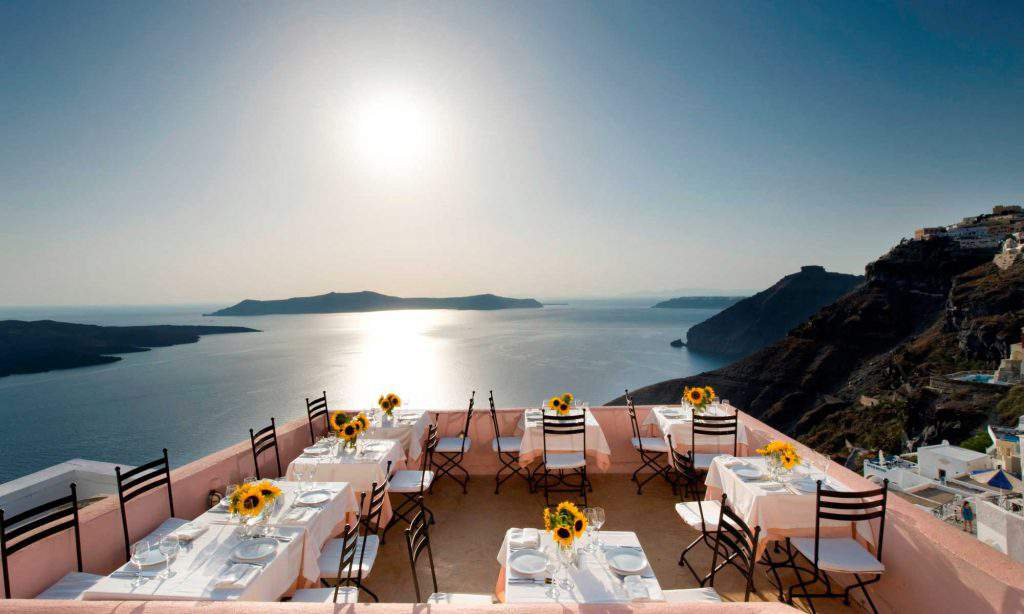 Oia's Best Restaurant, Oia's Best Restaurant sunset view
