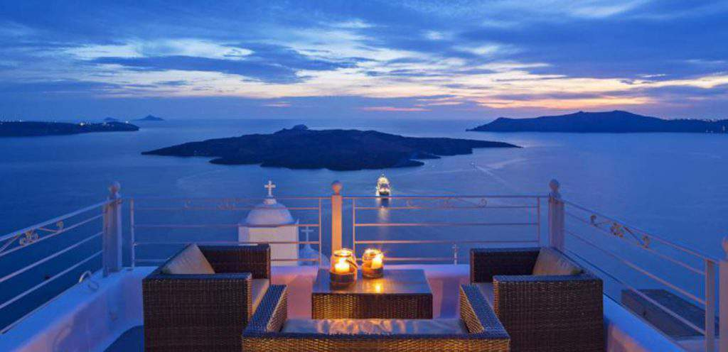 Fira Hotels with Wonderful View of the Sunset