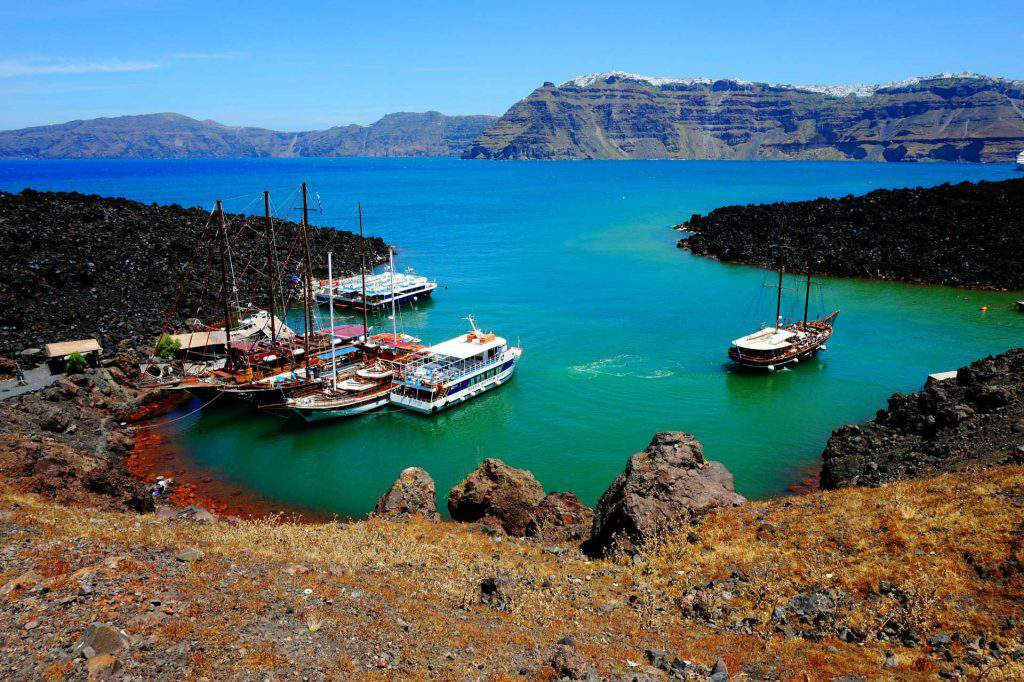 santorini volcano sunset cruise, santorini volcanic islands cruise