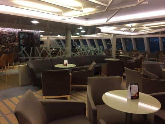 A look at the Business class in a Athens-Mykonos ferry trip.